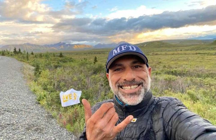 """They dubbed Gabriele """"The Peace Rider"""" and mapped out his route. The journey would begin in Miami Beach, weave through America's midwest, and end in Alaska."""