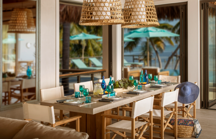 Dining area in the Islamorada Estate